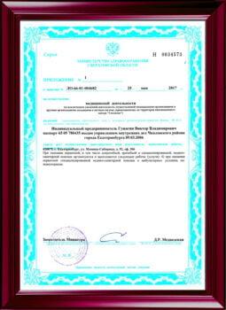Бессрочная лицензия по психотерапии, приложение №2