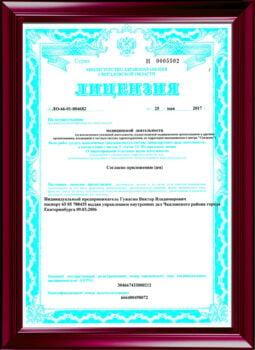 Бессрочная лицензия по психотерапии